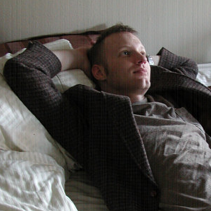Me in a rare state of relaxation, 2007.