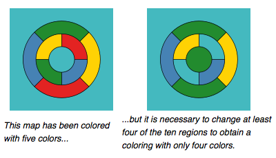Wikipedia four-color theorem diagram