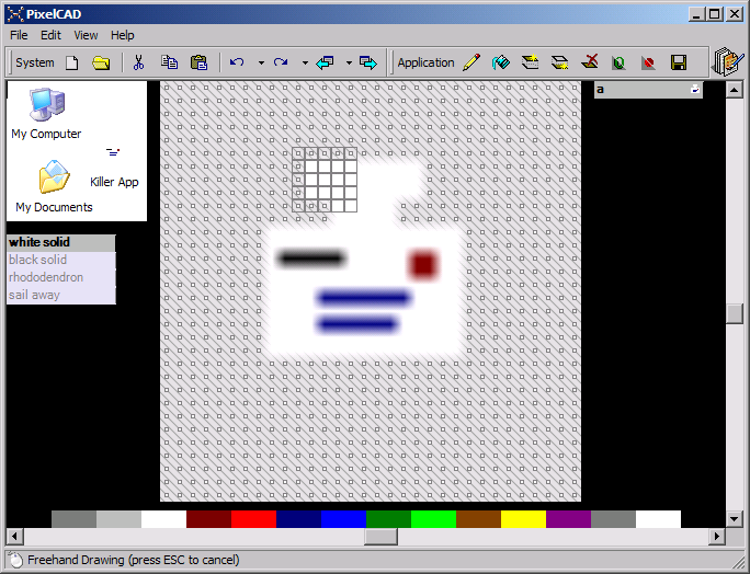 modifying the shape, dots show indeterminate pixels